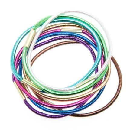 Набор резинок для волос Dewal Beauty, цветные, блестящие (8 штук)