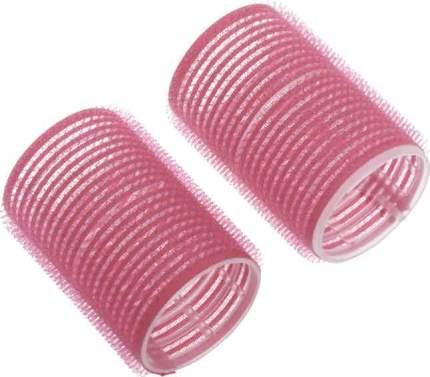 Набор бигуди-липучек Dewal Beauty диаметр 44 мм, длина 63 мм (10 штук) розовые