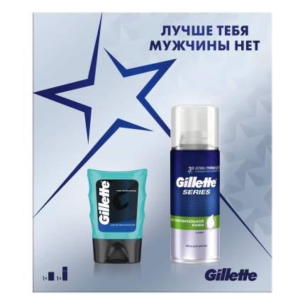 Подарочный набор Gillette Series Пена д/бритья для чувств.кожи 100мл+гель после бритья