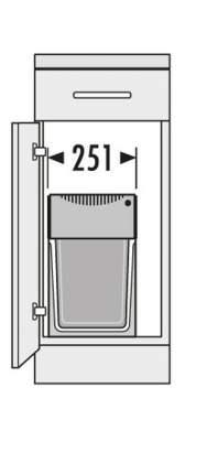 Выдвижная мусорная система Hailo Tandem 3666-82