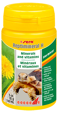 Витамины для рептилий Sera REPTIMINERAL H, пищевая добавка для растительноядных, 100 мл