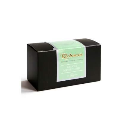"""Чай Richman """"Альпийский чабрец"""", черный листовой, с добавками, 25 пакетиков по 2 гр"""