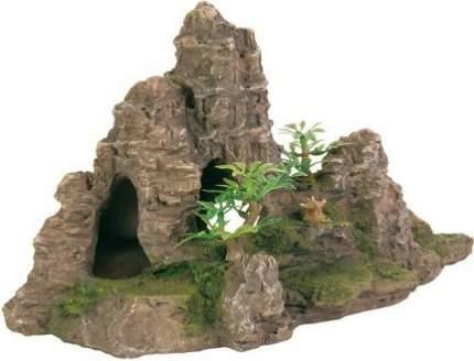 Грот для аквариума TRIXIE Rock Formation S Скалы с пещерой и растениями 22 см, 23х18х22 см
