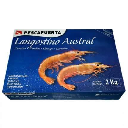 Креветка аргентинская лангустин пескар замороженная с головой 2 кг