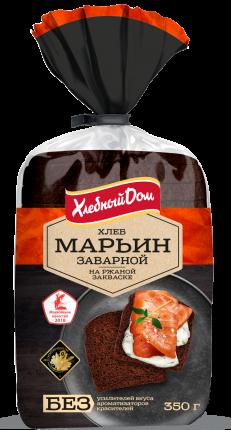 Хлеб Хлебный дом марьин заварной нарезка 350 г