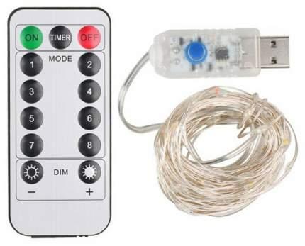 Светодиодная USB-лента GSMIN Colorful с пультом управления (5 м, 50 LEDs)