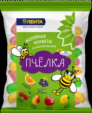 Конфеты Лента Пчелка желейные неглазированные микс 250 г