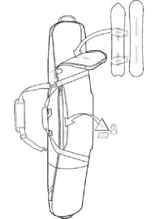 Чехол Для Сноуборда Burton 2020-21 Gig Bag True Black (См:181), 2020-21