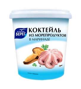 Коктейль из морепродуктов Балтийский Берег в маринаде 390 г