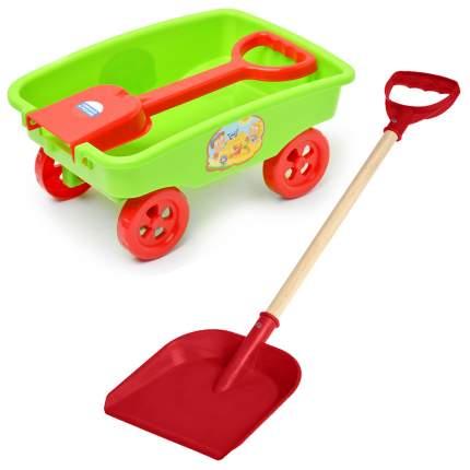 Игрушки для песочницы Тележка детская Деревянная детская лопатка 15-11017ТЛК+