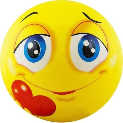 Мяч надувной детский Funny Faces арт.DS-PP 207 12 см, желтый