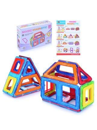 Конструктор магнитный Junfa toys Домик, 13 деталей
