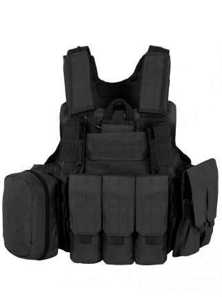 Разгрузочный Бронежилет с подсумками Tactical Molle Plate Carrier, арт 047 Black