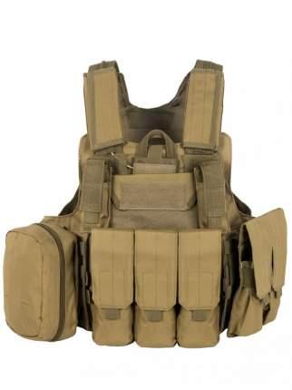 Разгрузочный Бронежилет с подсумками Tactical Molle Plate Carrier, арт 047 Coyote