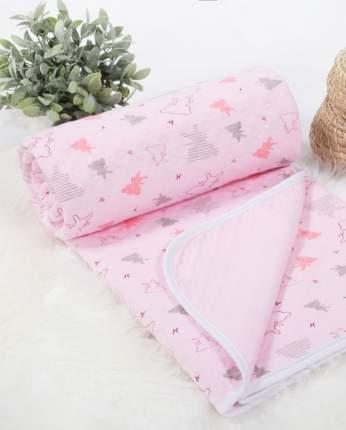 Одеяло-покрывало трикотажное детское (100х140) Мишки-малышки (розовое)