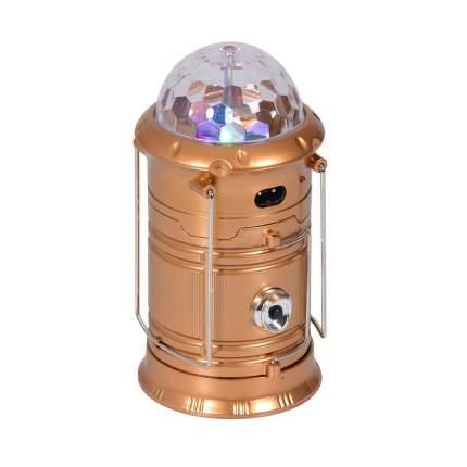 Складной кемпинговый фонарь с диско-шаром 4 в 1, 19 см (Цвет: Золотой  )