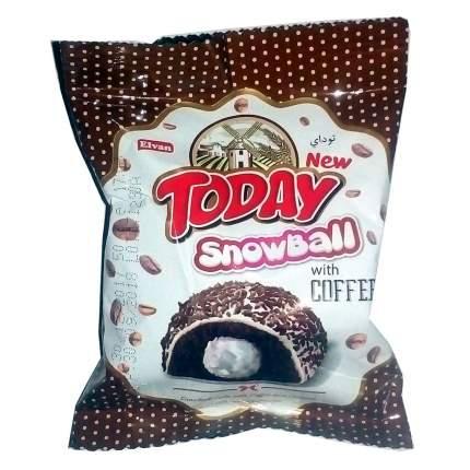 Кекс Today Snowball 24шт*50гр c кофе  с молочной начинкой и кокосовой посыпкой