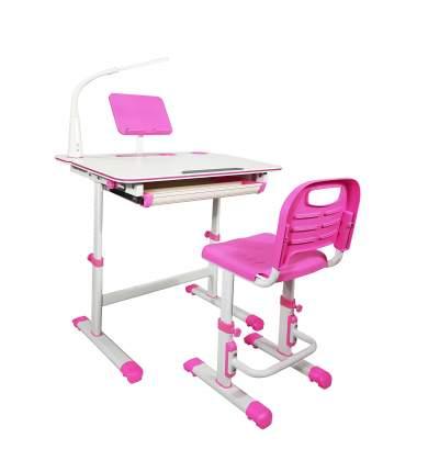 Детская парта с регулировкой высоты и стулом Star homework Pink