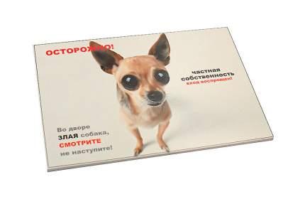 "Табличка ДАРЭЛЛ ""Осторожно! Злая собака"" 3вар. формат А5"