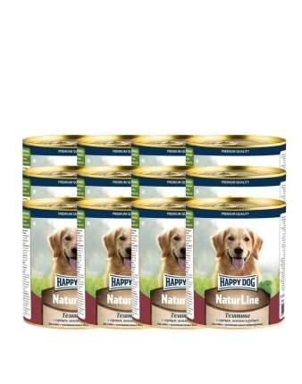 Консервы для собак Happy Dog , телятина, 12шт, 970г