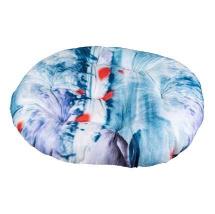 Лежак для собак и кошек Xody Овальный Эконом №4, цвета в ассортименте, 68х60 см