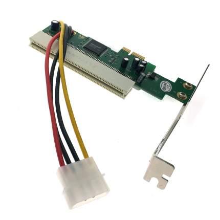 Адаптер PCI-E x1 male to PCI female 4 pin power, EPCIF-PCIM4pAd