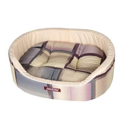Лежак для собак и кошек Xody Премиум №0, хлопок, коричневый, 38х26х15 см