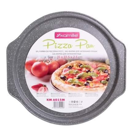 Форма для запекания пиццы Kamille Ø29*2см из углеродистой стали КМ-6015М