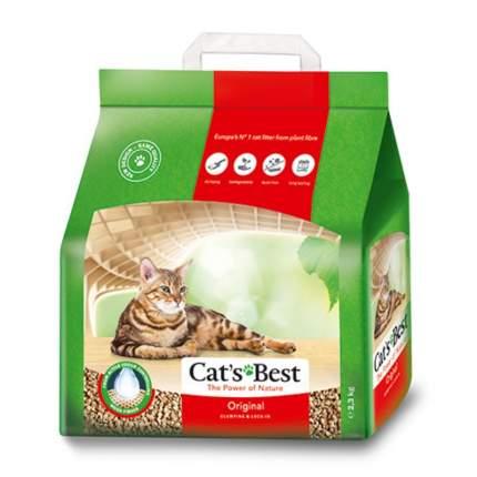 Наполнитель для кошачьего туалета CAT'S BEST Original, древесный, комкующийся, 5л, 2,3кг