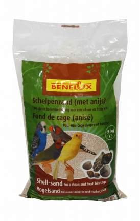 Белый песок из ракушек для птиц Benelux White shell sand с ароматом аниса, 5кг