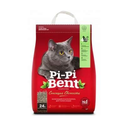 Комкующийся наполнитель для кошек Pi-Pi Bent Сенсация свежести, бентонитовый, 10 кг, 24 л