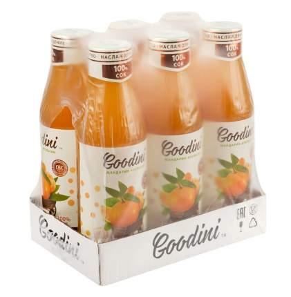 """Сок  Goodini """"Мандарин-апельсин"""", бут. 0.75 упаковка (6шт)"""