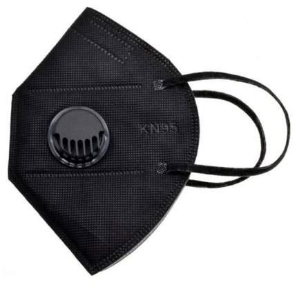 Респиратор KN95 FFP2 с клапаном 5 шт (Черный)