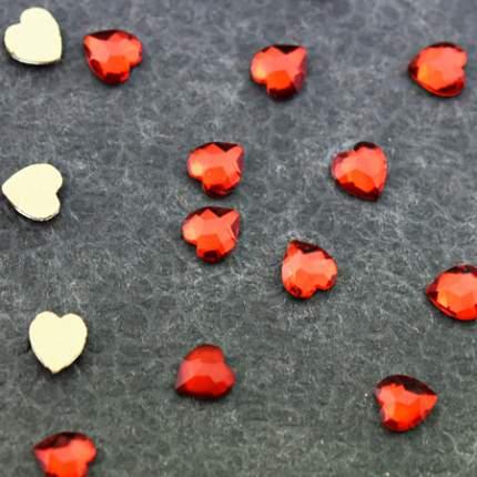 Стразы Patrisa Nail фигурные Сердечко красное 4x5,5 мм, ND75