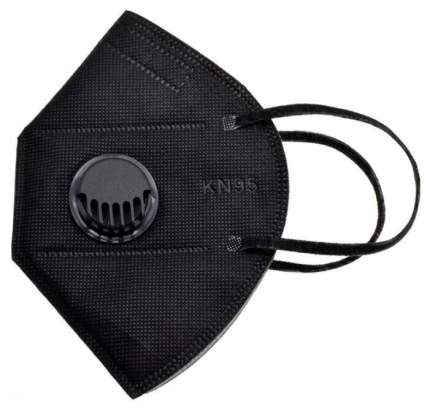 Респиратор KN95 FFP2 с клапаном выдоха 1 шт (Черный)