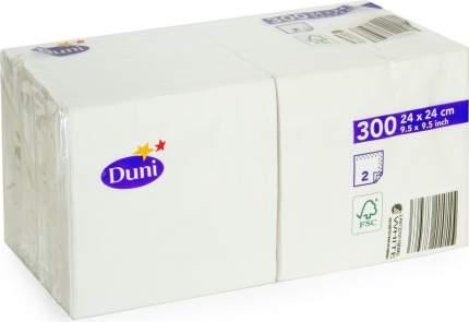 Салфетки бумажные Duni биг пак 2 слоя белые 300 штук 24*24 см