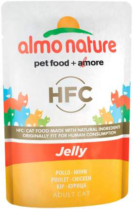Влажный корм для кошек Almo Nature HFC Jelly, курица, 24шт по 55г