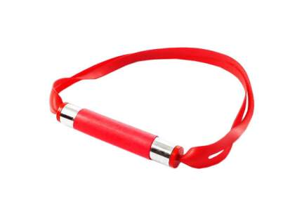 Красный латексный кляп с трубкой
