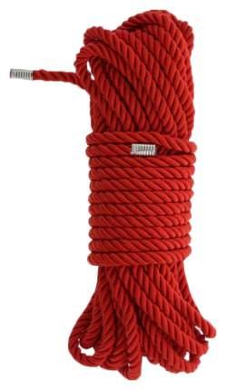Красная веревка DELUXE BONDAGE ROPE 10 м.