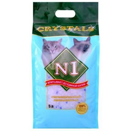 Впитывающий наполнитель для кошек №1 Crystals силикагелевый, 2 кг, 5 л