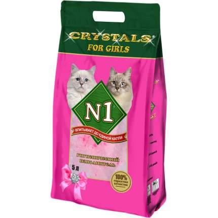 Впитывающий наполнитель для кошек №1 Crystals силикагелевый, 2.1 кг, 5 л