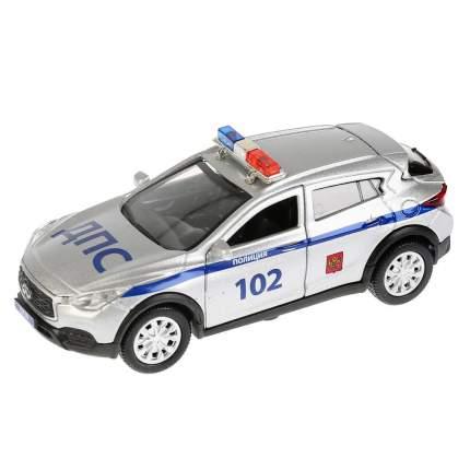 Технопарк Инерционная металлическая машина Infiniti Qx30 - Полиция, длина 12 см,