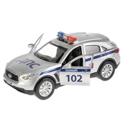 Технопарк Инерционная металлическая машина Infiniti Qx70 – Полиция, 12 см, свет-звук,