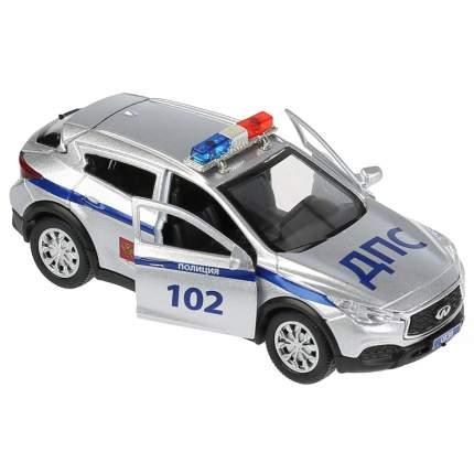 Технопарк Инерционная металлическая машина Infiniti Qx30 – Полиция, 12 см, свет-звук
