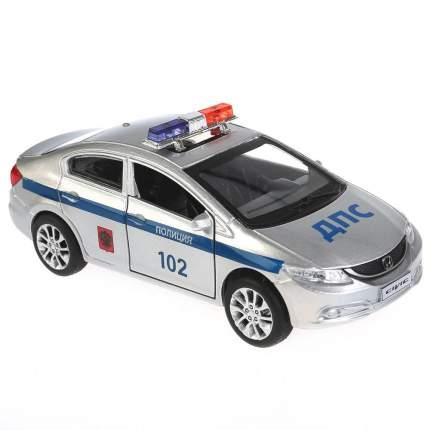 Технопарк Машина металлическая Honda Civic Полиция 12 см, открываются двери, инерционная