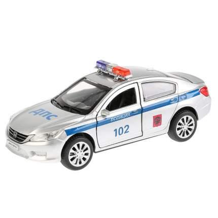 Технопарк Машина металлическая Honda Accord Полиция 12 см, открываются двери, инерционная