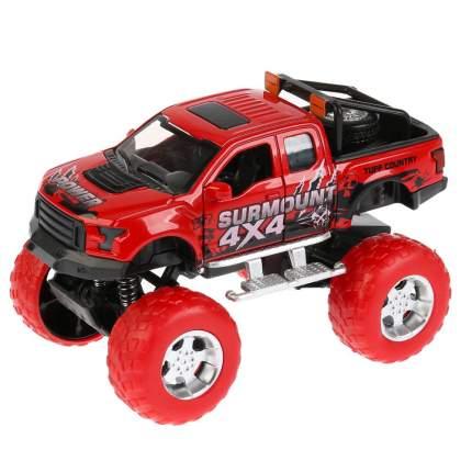 Металлическая инерционная модель Технопарк Джип Road Racing, красный, 12 см