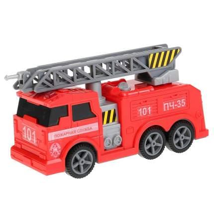 Технопарк Пожарная машина, 17 см, свет, звук, подвижные элементы