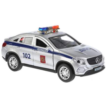 Машинка Технопарк Mercedes-Benz Gle Coupe Полиция, 12 см., свет и звук, инерционная