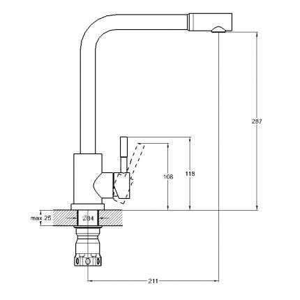Смеситель для кухонной мойки SOLONE EZA4-B090